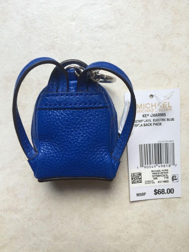 b26fba39d3bfd ... top quality michael kors royal blue leather rhea backpack key charm  coin purse tradesy 93cc9 7bccc
