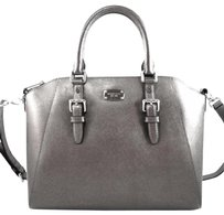 Michael Kors Leather Ciara Satchel in Gray