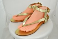 Michael Kors Womens Gold Sandals