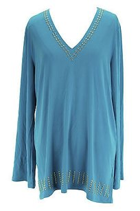 Michael Kors Womens Polyester Top blue