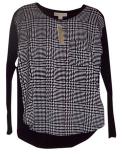 Michael Kors Top Houndstooth/Black