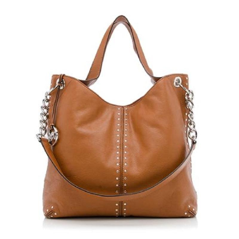 cc1debf91564 uk michael kors astor large leather hobo cement 30t6sath3le ee727 5f657;  reduced michael kors shoulder chain studs stud tote in luggage brown 84703  0cbd1