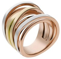 Michael Kors Women New Tri-Tone Intertwined Stack Ring