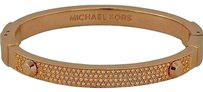 Michael Kors Women's Astor Pave-Embellished Rose Gold Tone Bracelet
