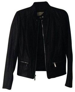 MICHAEL Michael Kors Blac Leather Jacket