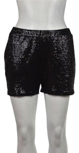 MICHAEL Michael Kors Womens Sequined Casual Cropped Trousers Shorts Black
