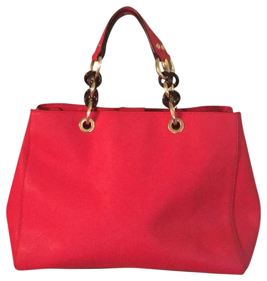 61b385253e60 ... cynthia large satchel red 583c2 4345c where to buy michael michael kors  tote in red 03a73 03519 ...