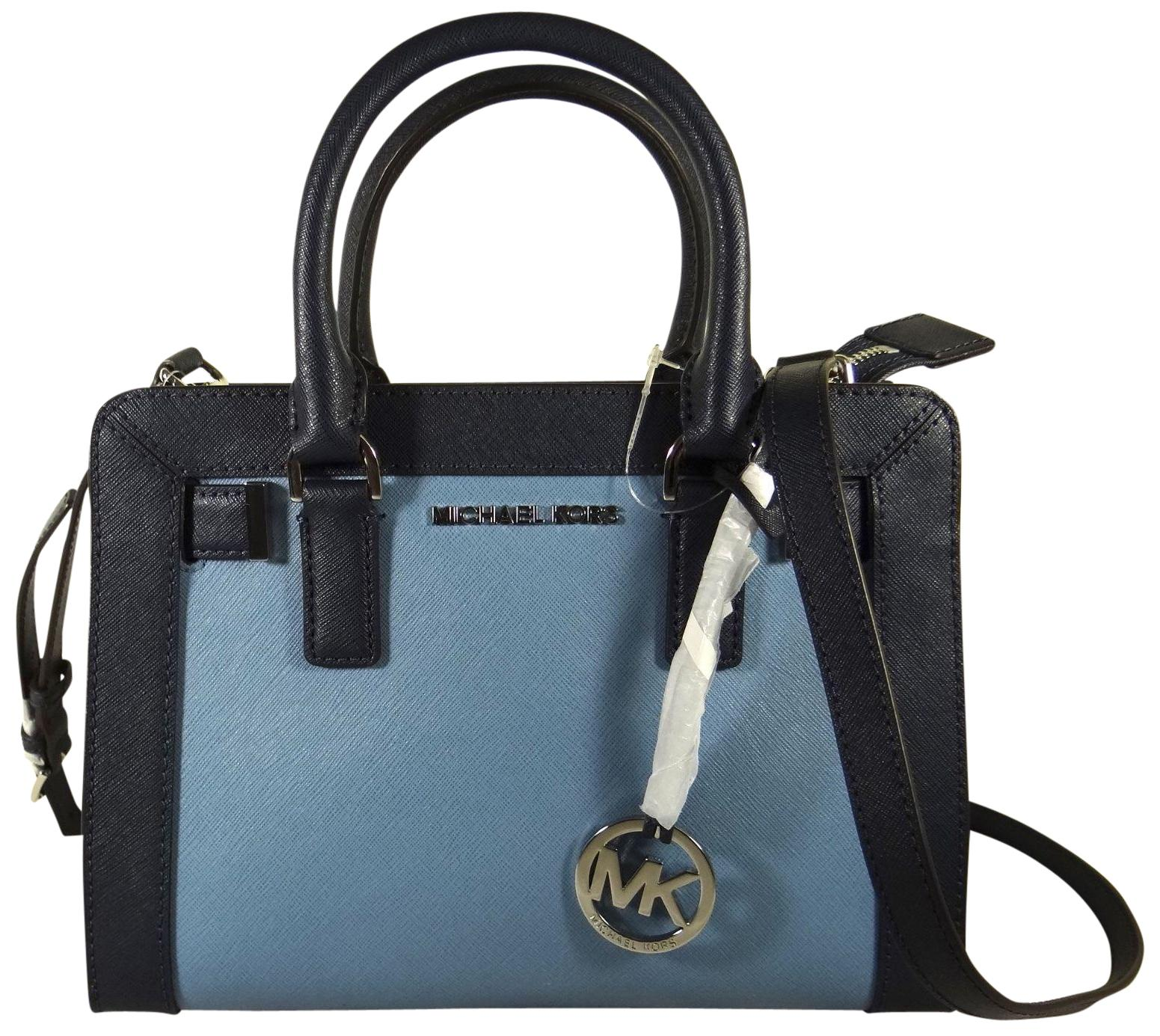 213bff18457b ... canada michael michael kors small dillon mk satchel in navy sky 318d0  e77a7