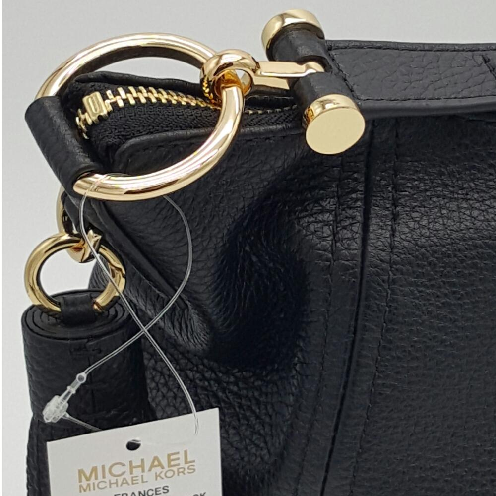 d953ff2f483e ... get michael michael kors frances xl slouchy hobo black leather shoulder  bag tradesy 768b3 30007 ...