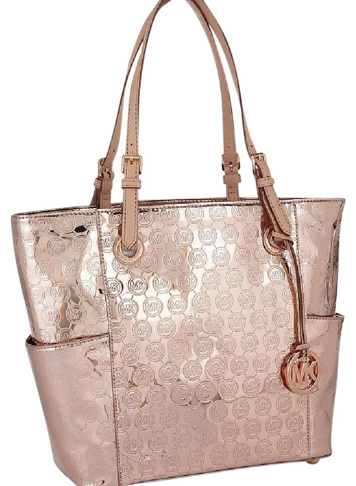 7db82d453 ... sweden michael michael kors tote in metallic rose gold 9a88e a1242