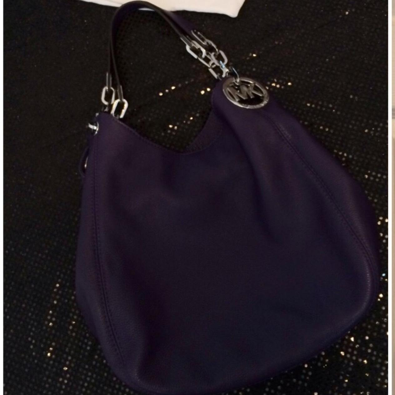 ... free shipping michael michael kors large fulton in iris purple leather  hobo bag tradesy c762c ceebc ... 3e0b211f3eb93