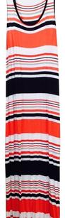 Black, white, and coral. Maxi Dress by MICHAEL Michael Kors