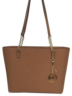 MICHAEL Michael Kors Jet Set Chain East West Acorn Top Zip Leather Tote Shoulder Bag