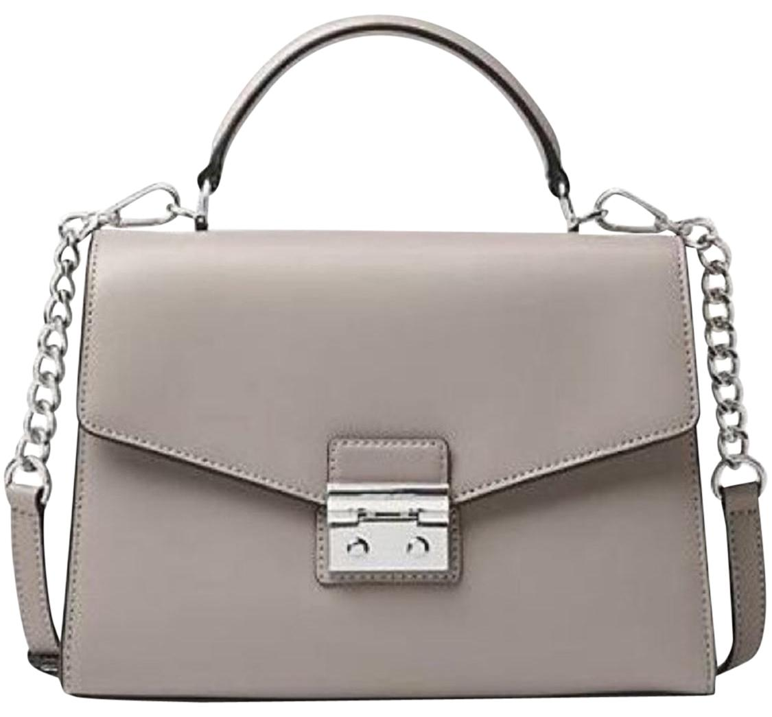 dd09663da7ed ... coupon code for michael michael kors sloan medium top handle pearl grey  leather satchel tradesy 8d8f7
