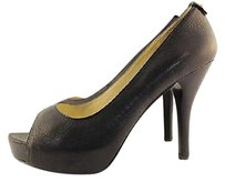 MICHAEL Michael Kors Womens Heels Leather Black Pumps