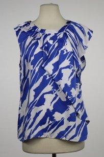 MICHAEL Michael Kors Womens Printed Career Sleeveless Top Blue
