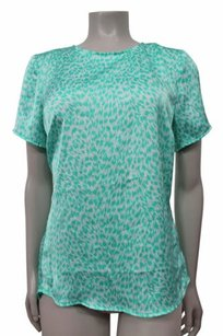 MICHAEL Michael Kors By Animal Print Hi Lo Top Mint
