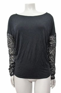 Michael Stars Lace Top Black