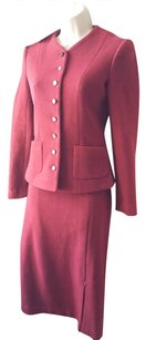Michel Klein Michel Klein wool drab red 2pc suit