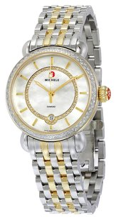 Michele MWW03T000042 CSX Elegance White Mother of Pearl Dial Two-tone Ladies