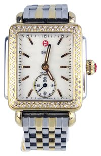 Michele Deco 16 Diamond Two Tone Watch