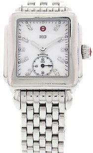 Michele Ladies Michele Deco Diamond Dial Stainless Steel Watch Ref. Dt17187