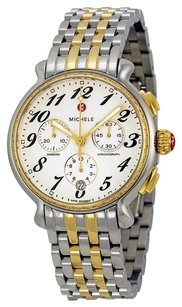 Michele MICHELE Fluette Silver White Dial Two-tone Ladies Watch MWW24A000007