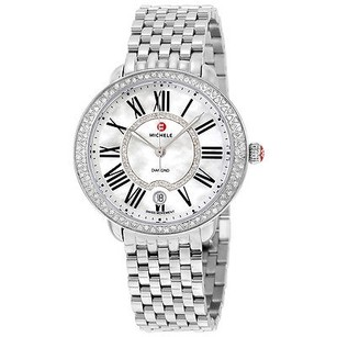 Michele Michele Serein Mother Of Pearl Dial Stainless Steel Ladies Watch