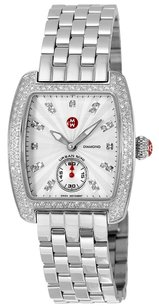 Michele MWW02A000508 Mini Urban Silver Diamond Dial Ladies Watch