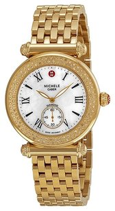 Michele MWW16A000038 Caber Diamond Gold Tone Ladies Watch