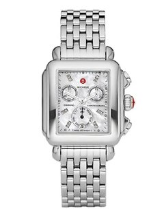 Michele NEW Deco Diamond Dial Steel MWW06P000014 Ladies Watch