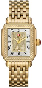 Michele Michele Deco Pave Diamond Gold Plated MWW06T000086 Ladies Limited Watch