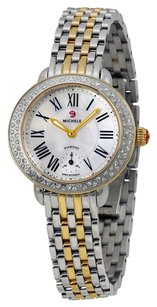 Michele MWW21E000007 Serein Mother of Pearl Dial Stainless Steel and Yellow Gold-plated Ladies Watch
