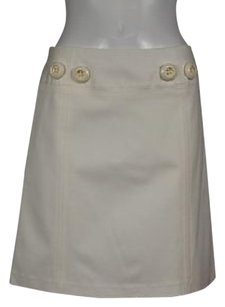 MILLY Womens Skirt Ivory