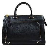 MILLY Pebbled Leather Tote in Black