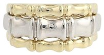 Milor Milor Bamboo Ring - 14k Yellow White Gold Womens 14 - 12