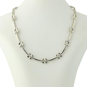 Milor Flower Chain Necklace - Sterling Silver Milor Italy 925 Womens 17