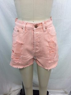 MINKPINK Mink Pink Almost Famous Cut Off Shorts Blush