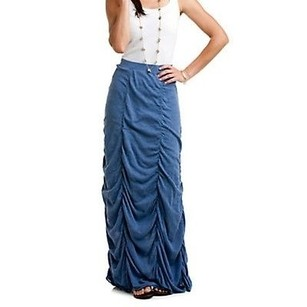 Minnie Rose Shirred Maxi Maxi Skirt peach