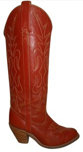 Miss Capezio Leather Vintage Western brown Boots