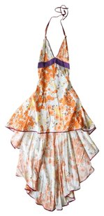 Miss Lyndel Yeo Couture Hi Lo Floral Flowy Dress
