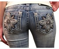 Miss Me The Buckle Buckle Boot Cut Jeans-Medium Wash