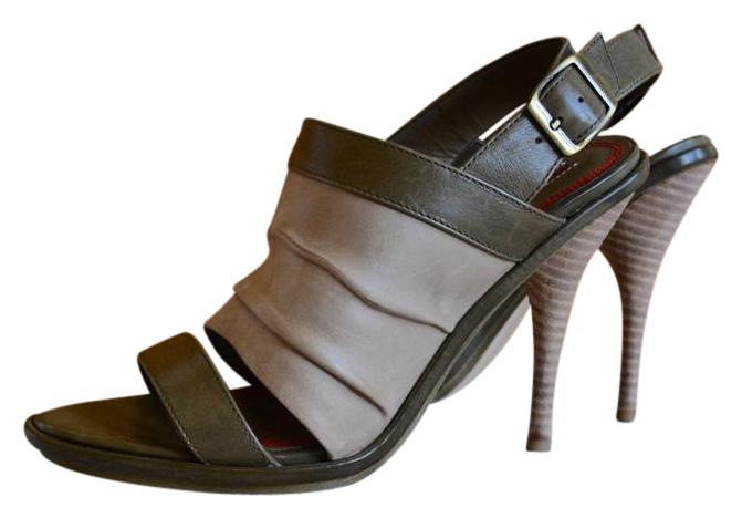Green Miss Sixty Sandals Up to 90% off at Tradesy