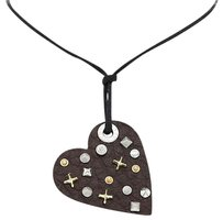 Miss Sixty Miss Sixty Ciondolo Collection Leather With Studs Pendant Necklace