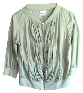 Miss Sixty Silk Outwear Spring Stylish Green Jacket