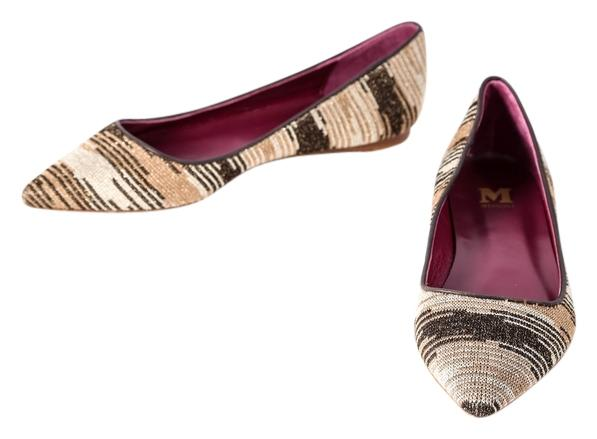 sale 2015 new Missoni Knitted Pointed-Toe Flats buy cheap many kinds of MJcPdvQAe
