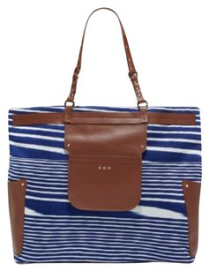 Missoni Leather Canvas Tote in Blue