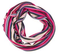 Missoni Missoni Multicolor Pink Blue Green Stripe Knit Wrap Long Womens Designer Scarf