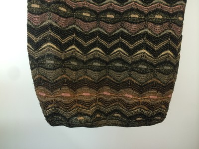Missoni short dress Pink, Gold, Black on Tradesy