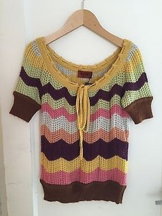 Missoni Nwt Wool Bland Casual K Top Multi-Color